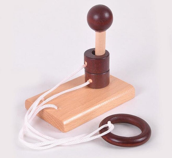 Desk Novelty 3D Wooden Rope Puzzle - Desk Mess