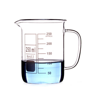 250Ml Glass Beaker Coffee Mug - Desk Mess