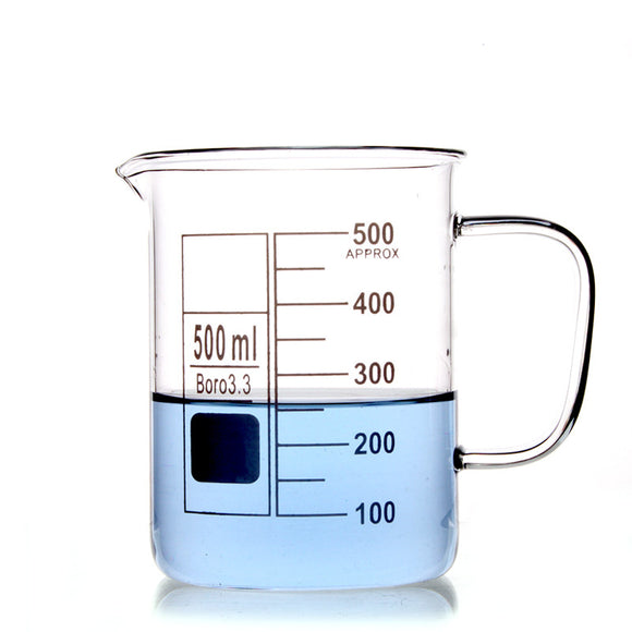 500Ml Glass Beaker Coffee Mug - Desk Mess