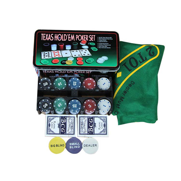 Texas Hold Em Poker Set - Desk Mess