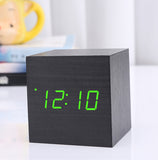 Wood Cube Alarm Clock - Desk Mess