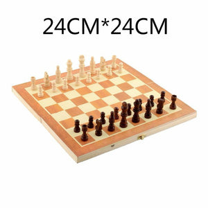 Wooden Magnetic Chess Set - Desk Mess