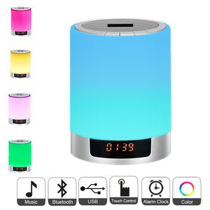 Led Alarm Clock With Wireless Bluetooth Speaker - Desk Mess