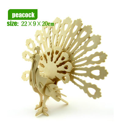 Wooden Model Animal Puzzles - Desk Mess