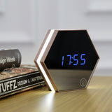 Mirror Alarm Clock - Desk Mess