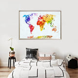 Watercolor World Map Posters - Desk Mess