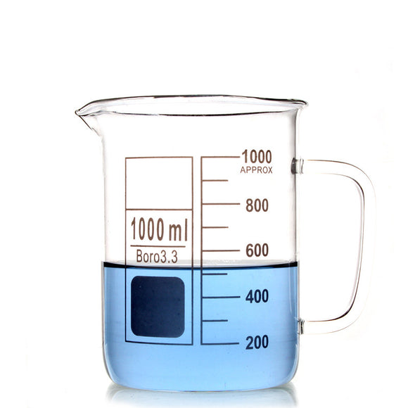 1000Ml Glass Beaker Coffee Mug - Desk Mess