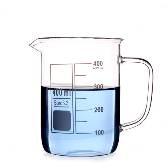 400Ml Glass Beaker Coffee Mug - Desk Mess
