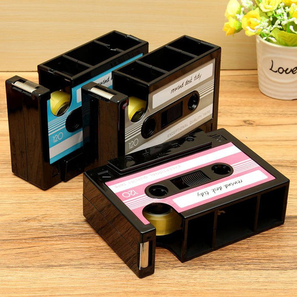 Cassette Tape Holder - Desk Mess