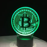 Bitcoin Lamp - Desk Mess