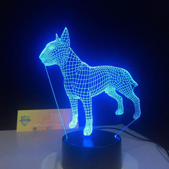 Bull Terrier 3D Lamp - Desk Mess