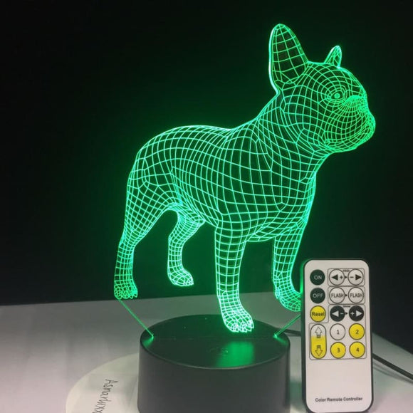 French Bulldog 3D Lamp - Desk Mess
