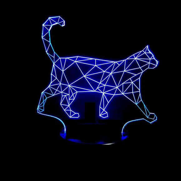 Geometric Cat Lamp