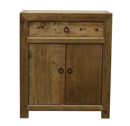 Elm Cupboard 1 Drawer 2 Doors L73 W45 H85cm