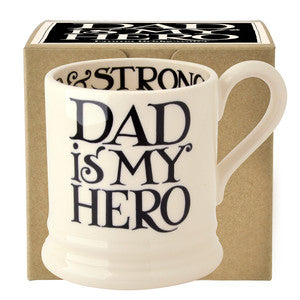 Black Toast 'Dad is My hero' 1/2 Pint Mug
