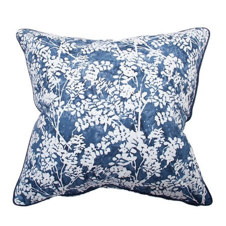 Indigo Fern Cushion 55x55cm