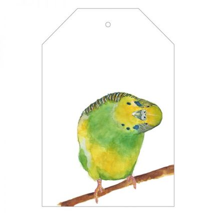 Berty the Budgie Gift Tag