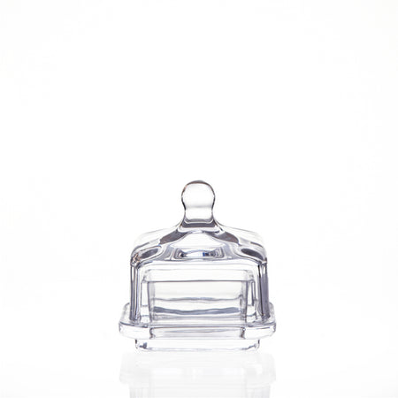 Mini Glass Butter Dish with Lid