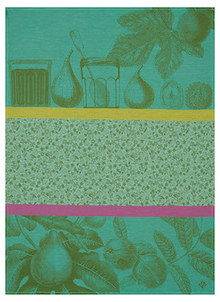 Tea Towel Confiture Green 60x80 100% Cotton