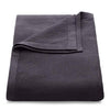 100% Cotton Throw 220cmx240cm Charcoal