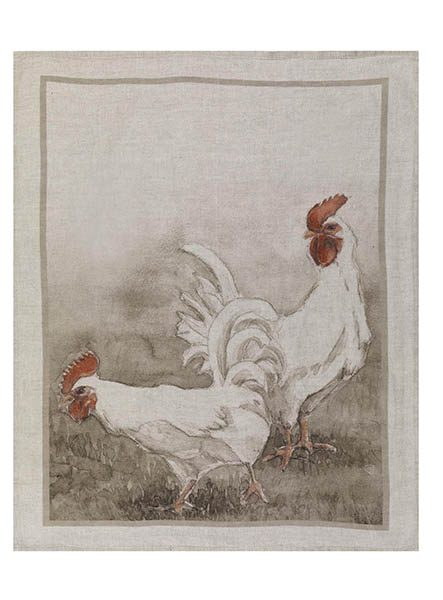 Chooks Linen Tea Towel