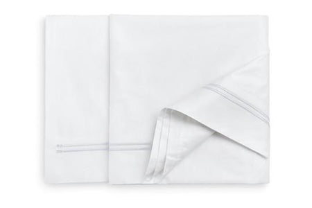 Queen Flat Sheet White Fabric White Embroidery