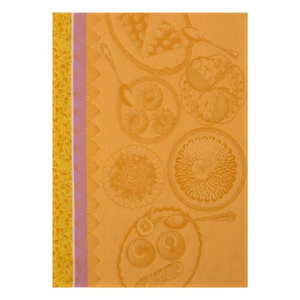 Tea Towel Delices Gourmands Apricot 60x80 100% Cotton