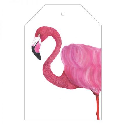 Florence the Flamingo Gift Tag