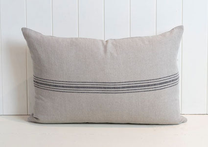 Favourite Linen Cushion- Black 60x40cm