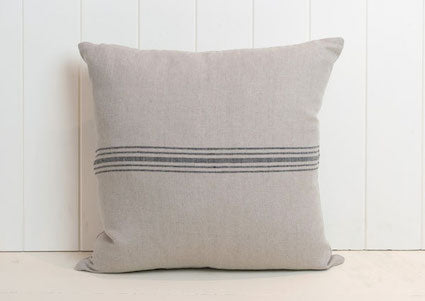 Henriette Linen Cushion- Black 45x45cm