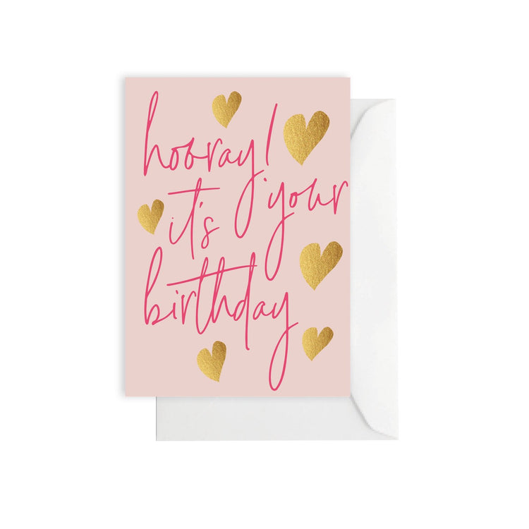 Birthday Hearts 'Hooray' Card