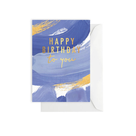 Birthday Brushy Ocean Card