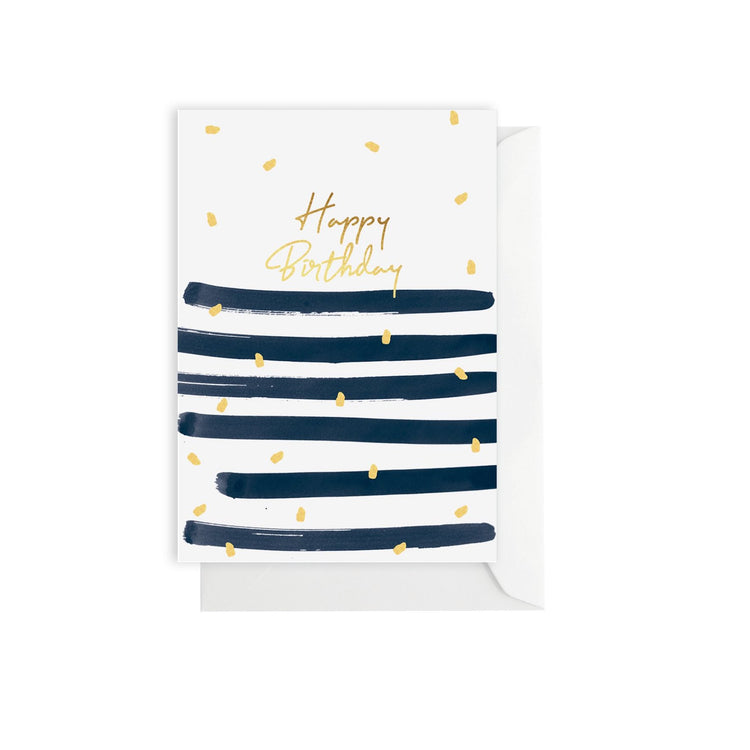 Birthday Stripe Card