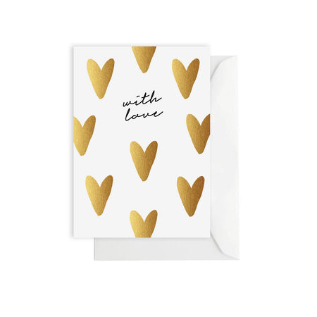 With Love Hearts Card