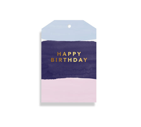 Gift Tag Watercolour Birthday