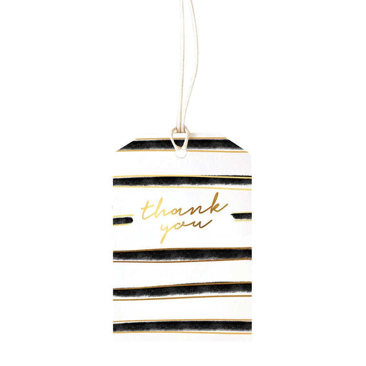 Gift Tag Stripe Thank You