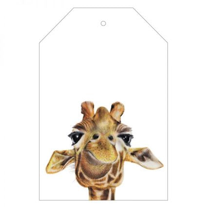 Toby the Giraffe Gift Tag