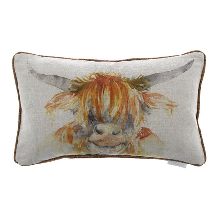 Highland Cow Cushion 30x50cm