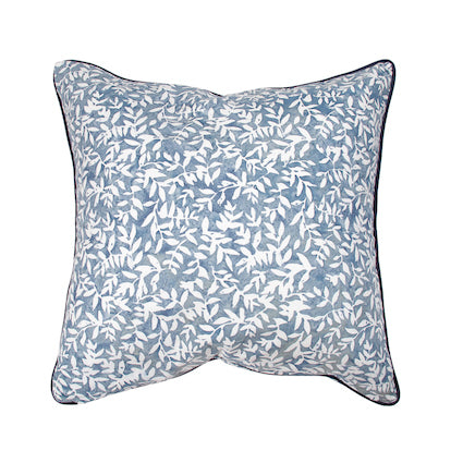 Indigo Leaf Cushion 55x55cm