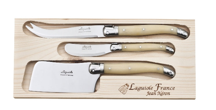 Laguiole 3pc Pate/Cheese/Cleaver Set