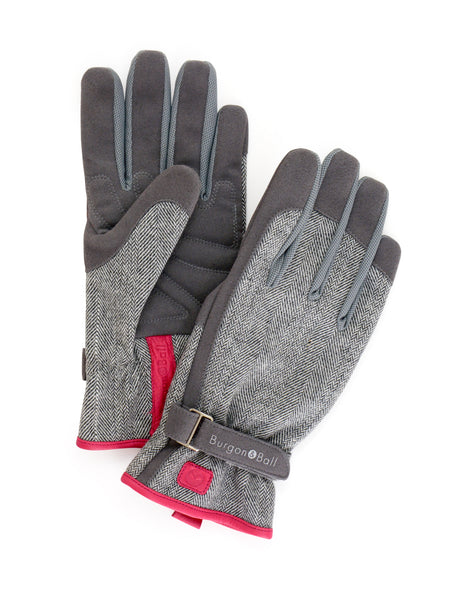 Grey Tweed Glove