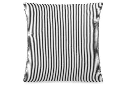 Lyon European Pillowcase 65cmx65cm Black/White Stripe