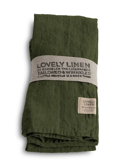 Lovely Linen Jeep Green Napkins 45x45cm Set 4
