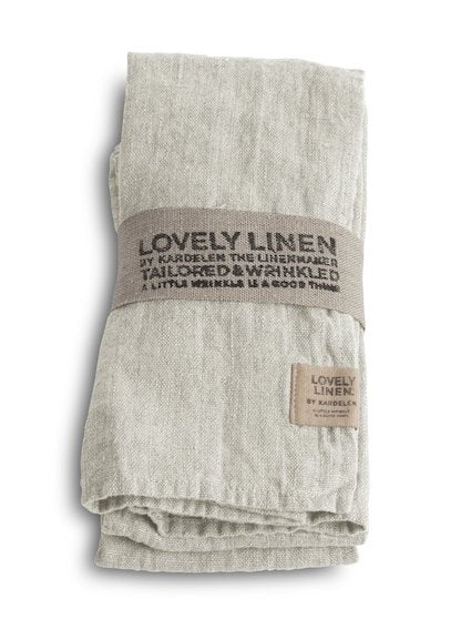 Lovely Linen Light Grey Napkins 45x45cm Set 4