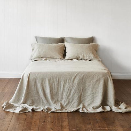 Montauk Linen Flat Sheet King