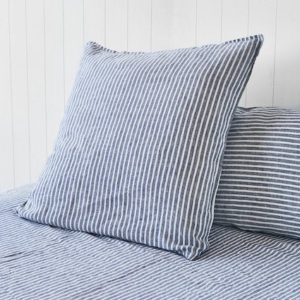 Montauk Linen Ocean Stripe Euro Pillowcases