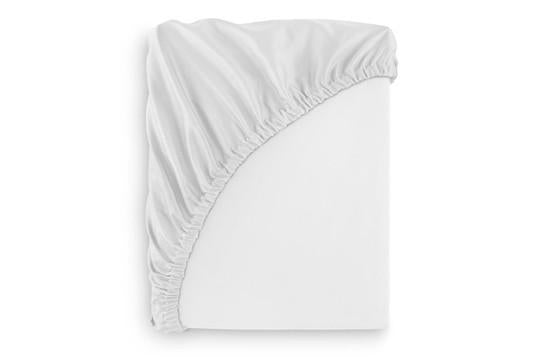 Queen French Seamed Fitted Sheet White