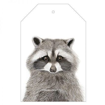 Rocco the Racoon Gift Tag