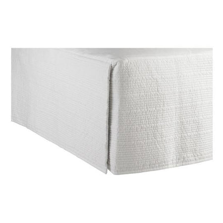 Queen Resort Styled Valance 100% Cotton White