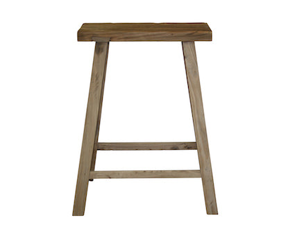 Recycled Elm Bar Stool L48cm W24cm H68cm